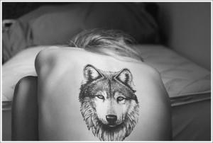 קעקוע של זאב לגב
