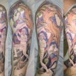 שרוול סמוראי על הזרוע
