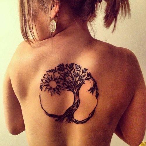 קעקוע עץ החיים לגב