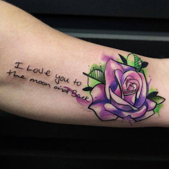 קעקוע אהבה עם ורד