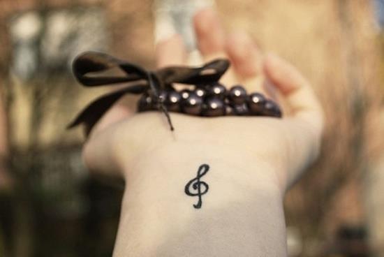 תו מוזיקה בפרק היד