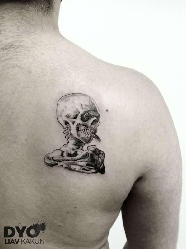 DYO tattoo-Liav - SN_skull_vangoche